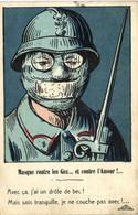 Militaria Patriotique Masque Contre Les Gaz ..et Vontre L' Amour !  Avec Ca J'ai Un Drole De Bec Mais Sois Tranquille ,j - Patriotic