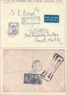 POLAND 1939 Currency Control Handstamp Registered Cover ZEGIESTOW To UK - 1919-1939 Republic