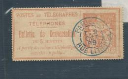 4  Bulletin De Conversation Beau Cachet   (clascamerou21) - Telegraph And Telephone