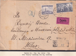 POLAND 1939 US Constitution Registered/express Cover - 1919-1939 Republic