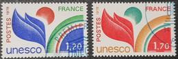 Timbres De Service N° 56/57  Avec Oblitération Bleu De L'U.N.E.S.C.O.  TTB - Afgestempeld