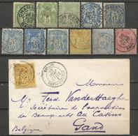 France - Type Sage - Dép.73 Savoie : Aime, Les Echelles, Albertville, St.Jean-de-Maurienne, Chambéry, Aix-les-Bains - 1877-1920: Periodo Semi Moderno