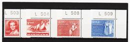 DDT656 DÄNEMARK 1982 Michl 746 + 748/50 MIT RANDNUMMERN ** Postfrisch  SIEHE ABBILDUNG - Danimarca