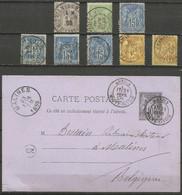 France - Type Sage - Dép.74 Haute-Savoie : Chamonix, Vitrey-s/Mance, Rioz, Thones, Thonon, Evian, Bonneville, Annecy - 1877-1920: Semi Modern Period