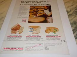 ANCIENNE  PUBLICITE FROMAGE  SWITZERLAND DE SUISSE 1966 - Afiches