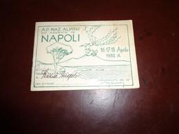 B776  Tessera Adunata Alpini Napoli - Non Classificati