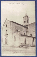 CPA ARDECHE (07) - SAINT-JUST-D'ARDECHE - EGLISE - PHOTO ALBERT PERRET, PONT-SAINT-ESPRIT - Otros Municipios