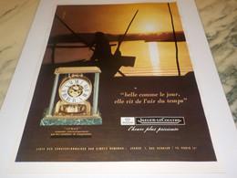 ANCIENNE PUBLICITE PENDULE ATMOS JAEGER-LECOULTRE 1972 - Juwelen & Horloges