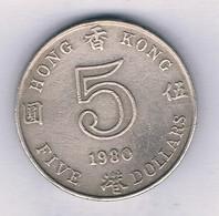 5 DOLLAR  1980 HONGKONG /7531/ - Hong Kong