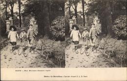 Stereo CPA Paris, Parc Monceau, Descente Rapide, Kinder Mit Reifen - France