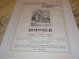 ANCIENNE PUBLICITE  CONFISEUR DE PARIS BOISSIER 1971 - Afiches
