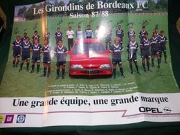 FOOTBALL , GIRONDINS DE BORDEAUX , SAISON 87/88 GRAND POSTER AVEC 21 SIGNATURES ( Des Vraies ) - Posters