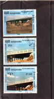 KAMPUCHEA  1988  Y.T. N° 851  852  853  Oblitéré - Kampuchea