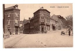CPA PAQUIER FLAWINNE - BOMEL - RUE DE LOUVAIN ET RUE D'ARQUET - NON CIRCULEE - ANIMEE. - Namur