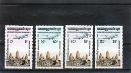 KAMPUCHEA  1984  Poste  Aérienne  Y.T. N° 32  à  35  Oblitéré - Kampuchea