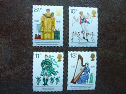 1976 British Cultural Traditions    SG = 1010 / 1013 ** MNH - 1952-.... (Elizabeth II)
