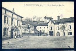 Cpa Du 87 Saint Priest Taurion - Hôtels Valade Et Ryrolle    SE20-6 - Saint Priest Taurion