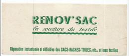 BUV / French Old Blotting / Blotter // à Saisir Achat Immédiat BUVARD ANCIEN RENOV SAC SOUDURE DU TEXTILE SACS - S