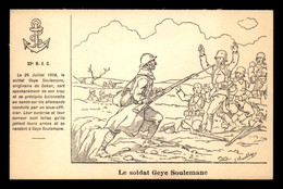 GUERRE 14/18 - ILLUSTRATEURS - J. HEURTEBIZE - 23E R.I.C. LE SOLDAT GEYE SOULEMANE - War 1914-18