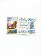 BUVARD  ANCIEN PETIT FORMAT / ZAN PHALENE DE CHINE PAPILLON REGLISSE ZANBI - Z