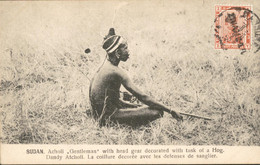 Sudan Soedan - Acholi Gentleman - Tusk Hog Dandy Atcholi Sanglier - 1915 - Sudan