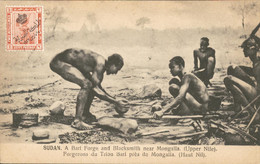 Sudan Soedan - A Bari Forge Blacksmith Mongalla Upper Nile - Sudan