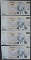 4 BILLETS OF ISRAEL 1978 De 50  ( NEUF ) - Israël