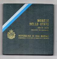 San Marino - 1976 -Serie Divisionale (7 Monete + 500 Argento) - Con Custodia E Garanzia - (FDC24954) - San Marino