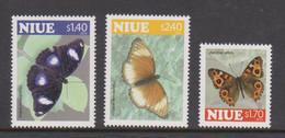 Niue  1176-78 2010 Butterflies Mint Never Hinged - Niue