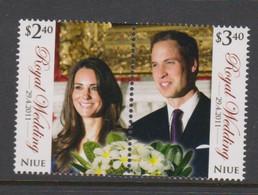 Niue  1187-88 2011 Royal Wedding Mint Never Hinged - Niue