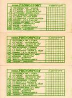 Romania, 1979, Lot Of 3 Vintage Sport Bets Tickets - PRONOSPORT, RSR - Loterijbiljetten