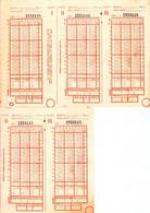 Romania, 1970's, Lot Of 2 Vintage Sport Bets Tickets - LOTO - PRONOSPORT, RSR - Loterijbiljetten