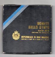 San Marino - 1979 -Serie Divisionale (8 Monete + 500 Argento) - Con Custodia E Garanzia - (FDC24957) - San Marino