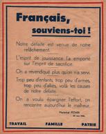 MARECHAL PETAIN ETAT FRANCAIS PROPAGANDE TRACT 1940 - 1939-45