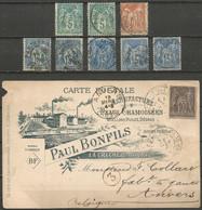France - Type Sage - Dép.79 Deux-Sèvres Dont Oiron, Menigoute, Faye-l'Abbesse, Bressuire, La Crèche, Thouars,... - 1877-1920: Semi Modern Period