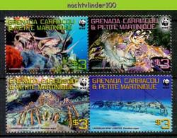 Ngb436s WWF FAUNA SCHAALDIER LANGOEST KREEFT LOBSTER LANGUST CRUSTACEAN KARIBIK-LANGUSTE GRENADA GRENADINES 2009 PF/MNH - Unused Stamps