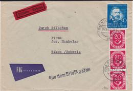 Bund Mi 181 Reis Ua Ausl EilBf L1 Aus Dem Briefkasten Nürnberg 1953 R - Storia Postale