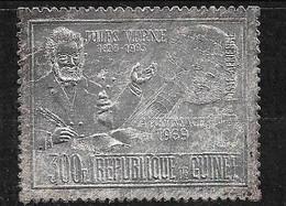 Guinée Sur Feuille Argent Poste Aérienne Jules Verne Et Apollo XI  Neuf * * B/TB  MNH F/VF  Le Moins Cher Du Site ! - Guinea (1958-...)