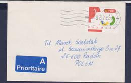Denmark Cover Franked W/1995 ATM Mi.3 To Poland 1995 (G115-67) - ATM - Frama (Verschlussmarken)