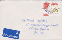 Denmark Cover Franked W/1995 ATM Mi.2 To Poland 1995 (G115-67) - ATM - Frama (Verschlussmarken)