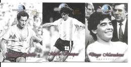 AV75 - TRADING CARD FUTERA PLATINIUM - OSWALDO ARDILES - MARIO KEMPES - DIEGO MARADONA - Trading Cards