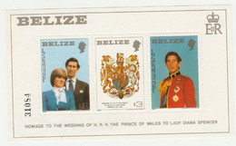 BELIZE Homage To The Wedding Of H.R.H The Prince Of Wales To Lady Diana Spencer 1981 - Belize (1973-...)