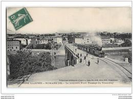 CPA 26 Romans Pont Des Tramways Le Train Tramway Ligne De Tain L'Hermitage Bourg De Peage - Romans Sur Isere