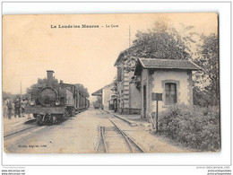 CPA 83 La Londe Les Maures La Gare Et Le Train Tramway Ligne De Toulon Saint Raphael - La Londe Les Maures