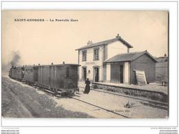 CPA 89 Saint Georges La Gare Et Le Train Tramway Ligne De Toucy Auxerre - Saint Georges Sur Baulche