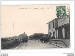 CPA 89 Perrigny Les Auxerre La Gare Et Le Train Tramway Ligne De Toucy Auxerre - Otros Municipios