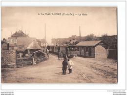CPA 22 Le Val André La Gare Et Le Train Tramway Ligne De St Brieuc Le Guildo - Otros Municipios