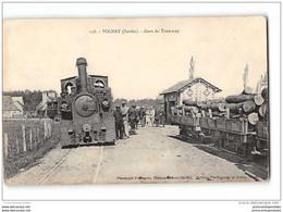 CPA 72 Volnay La Gare Et Le Train Tramway Ligne Du Mans Saint Calais - Sonstige Gemeinden