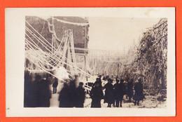 VEN042 Carte-Photo Ville à Localiser  PLUIE GIVRANTE Arbres Et Lignes électriques Au Sol Manchon GLACE 1910s - Katastrophen