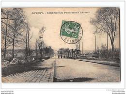 CPA 92 Antony Hotel Café Du Panoramma à L'Avenir Et Le Tramway Ligne De Paris Arpajon - Antony
